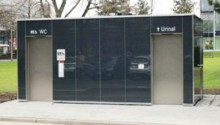 City-Toiletten und Urinale